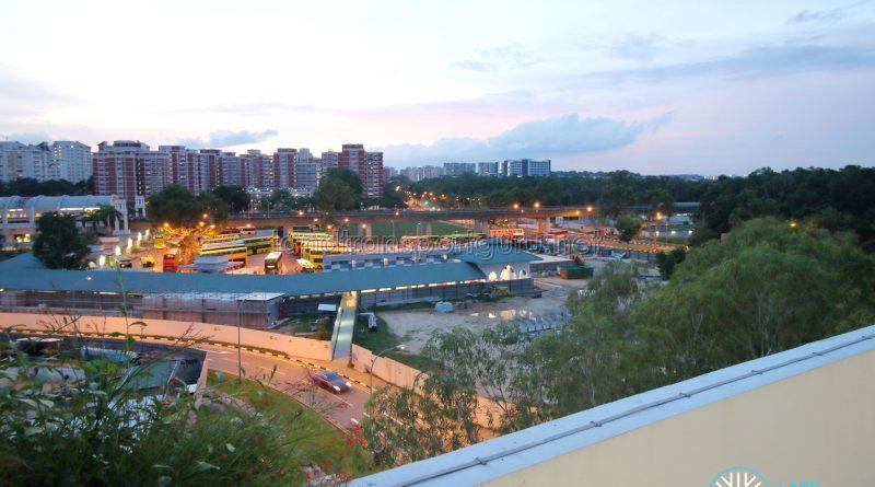 Pasir Ris Interim Bus Interchange - Overhead View
