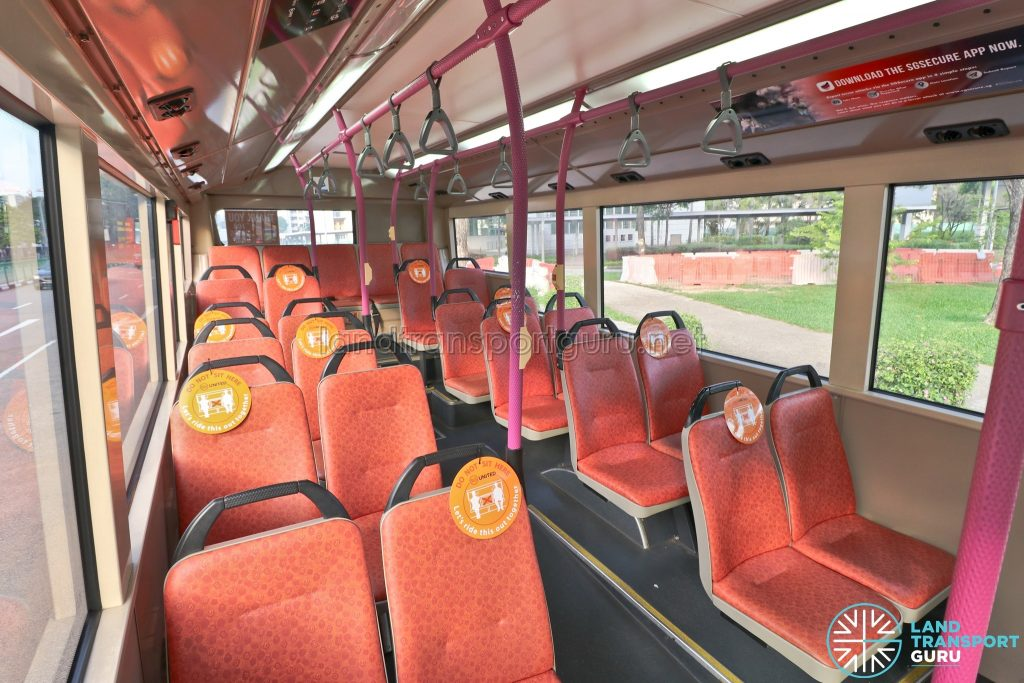 Safe Distancing Stickers on Buses