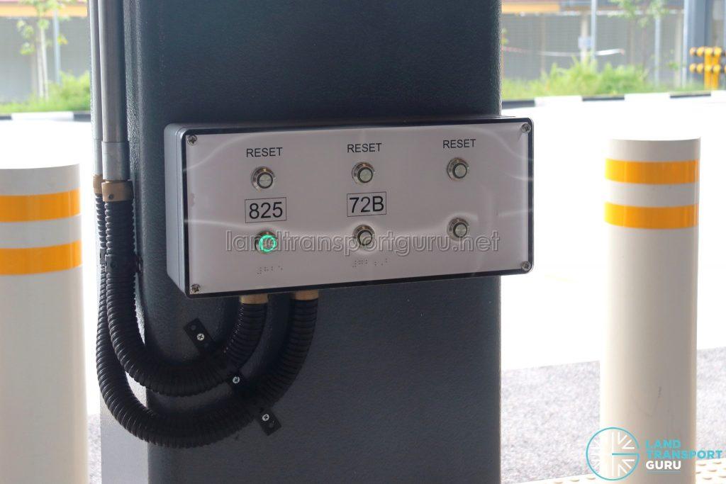 Yio Chu Kang Bus Interchange - Passenger-in-wheelchair call button