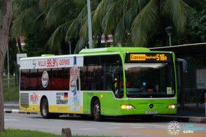 Bus 518A: Go-Ahead Mercedes-Benz Citaro (SG1056X)