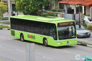 Bus 24: SBS Transit Mercedes-Benz Citaro (SG1088D)