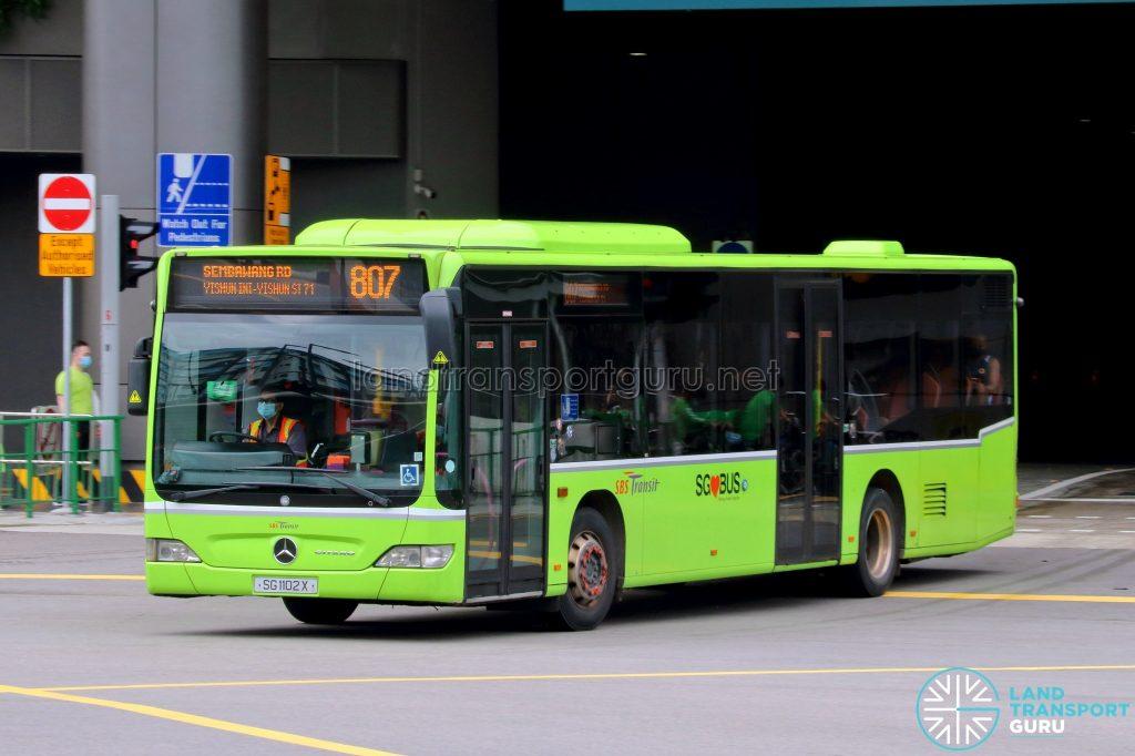 Bus 807: SBS Transit Mercedes-Benz Citaro (SG1102X)