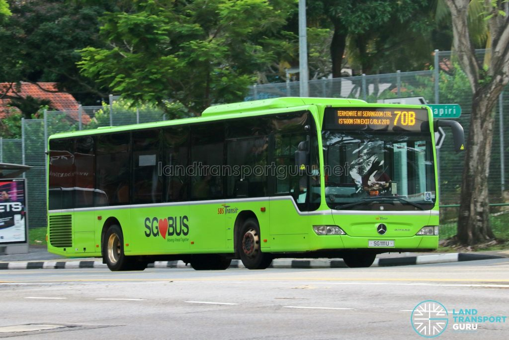 Bus 70B: SBS Transit Mercedes-Benz Citaro (SG1111U)