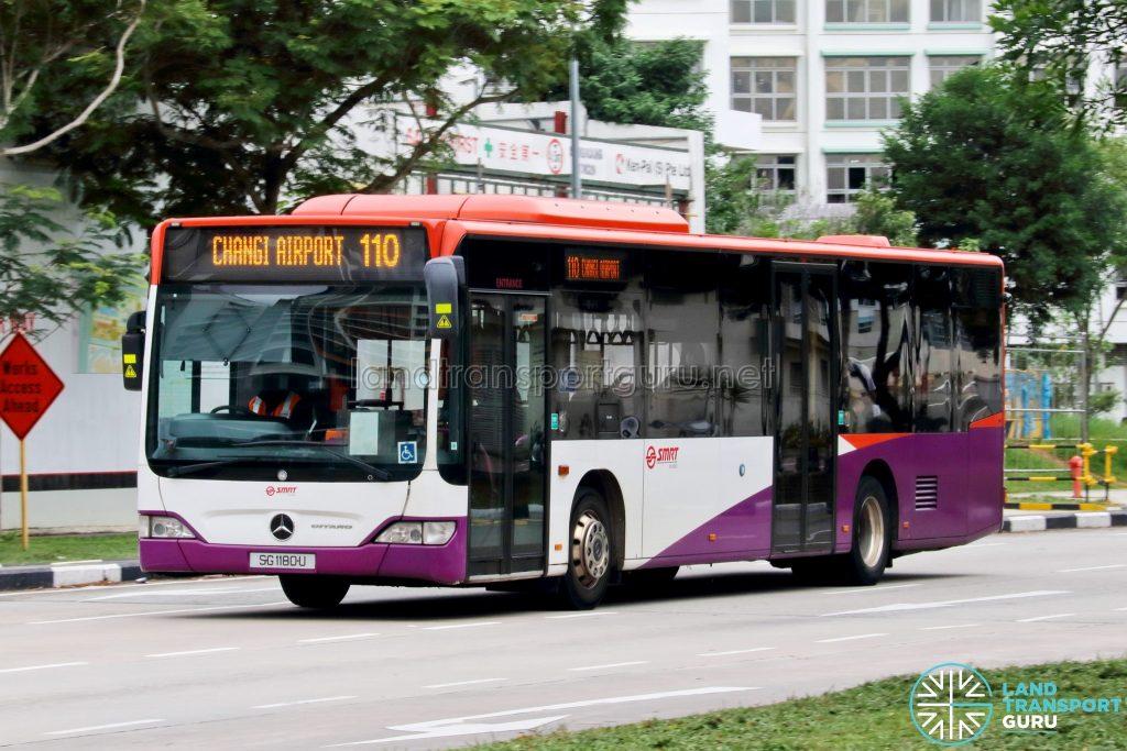 Bus 110: SMRT Mercedes-Benz Citaro (SG1180U)