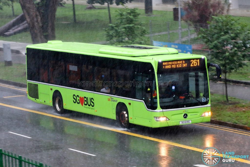 Bus 261: SBS Transit Mercedes-Benz Citaro (SG1231G)