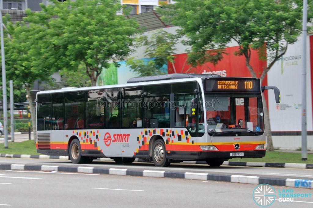 Bus 110: SMRT Mercedes-Benz Citaro (SG1693G)