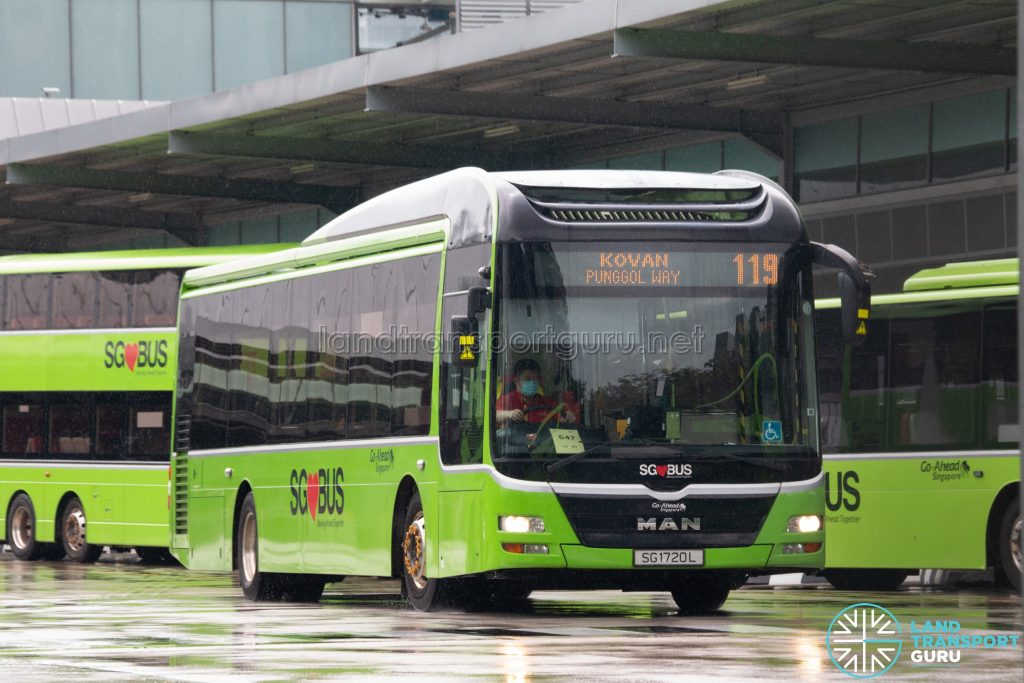 Bus 119: Go-Ahead MAN Lion's City A22 (SG1720L)