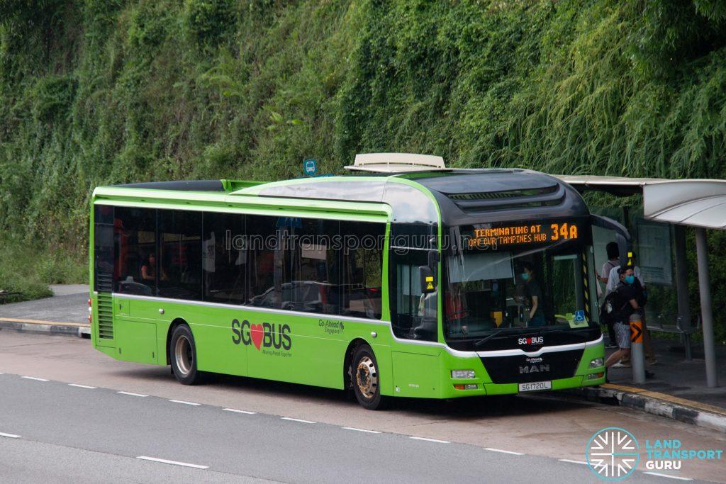 Bus 34A: Go-Ahead MAN Lion's City A22 (SG1720L)
