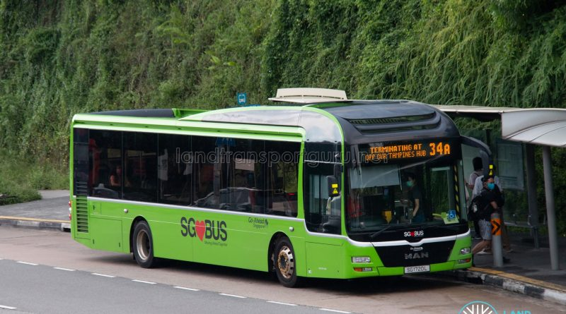 Bus 34A: Go-Ahead MAN Lion's City A22 (SG1720L)