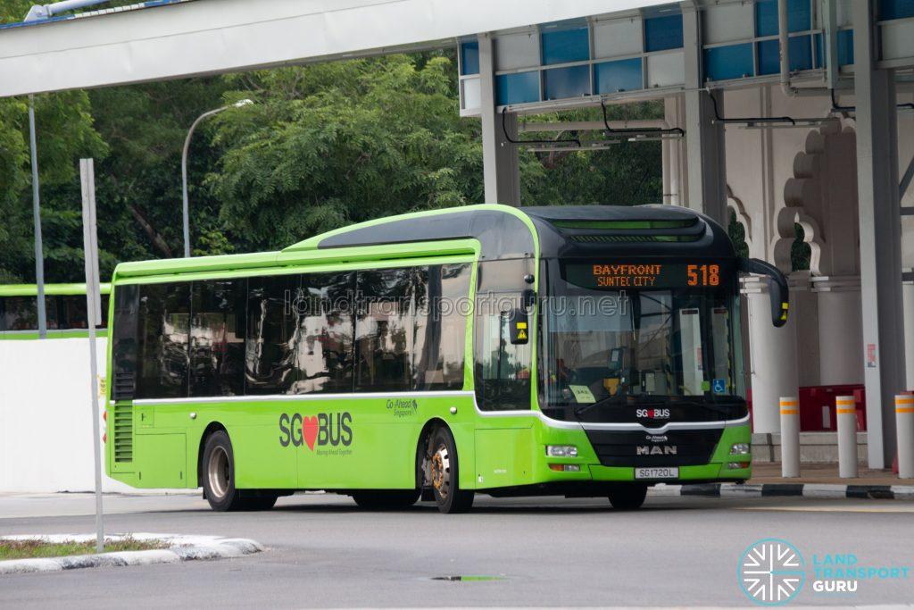 Bus 518: Go-Ahead MAN Lion's City A22 (SG1720L)