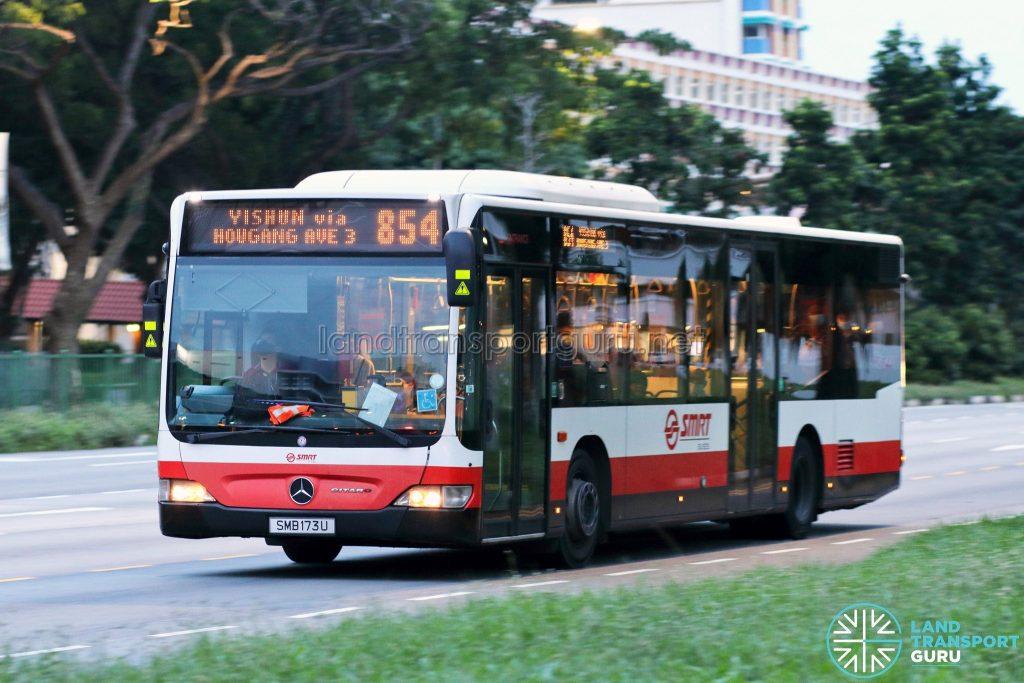 Bus 854: SMRT Mercedes-Benz Citaro (SMB173U)