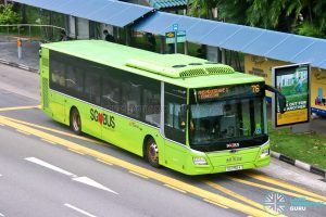 Bus 76: SBS Transit MAN A22 (SG1750A)