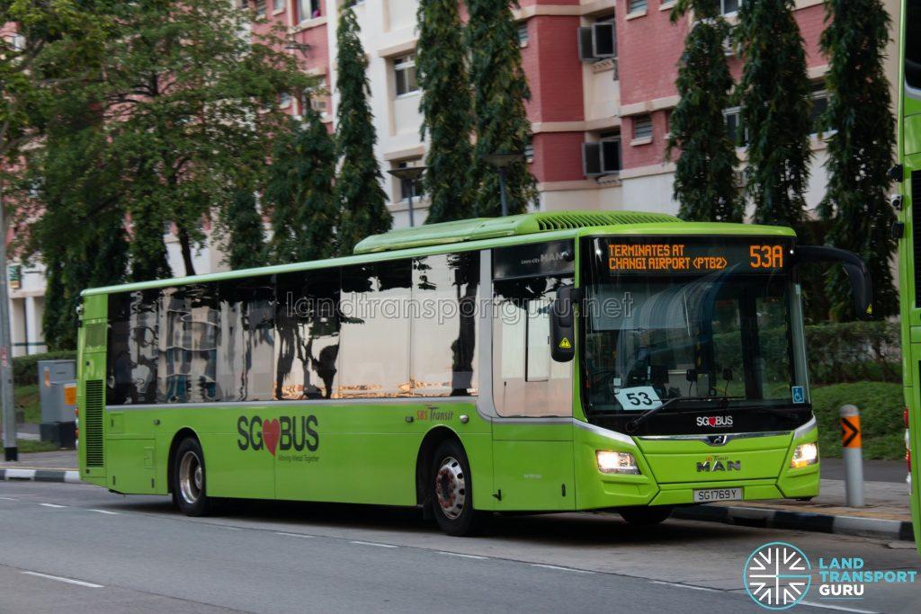 Bus 53A: SBS Transit MAN Lion's City A22 (SG1769Y)