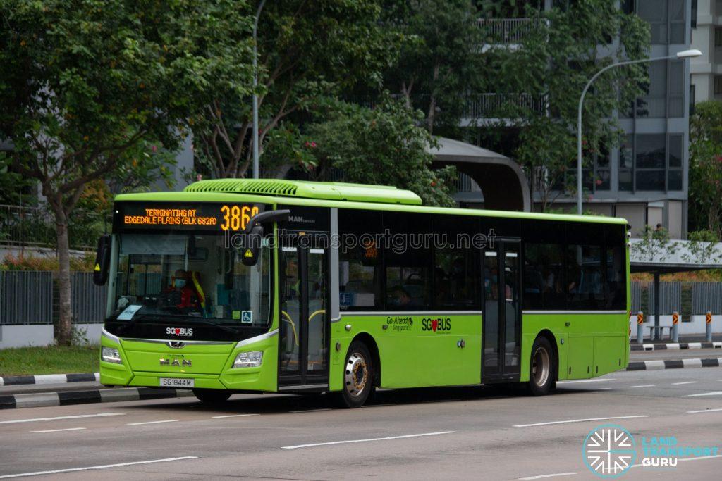 Bus 386A: Go-Ahead MAN Lion's City A22 (SG1844M)