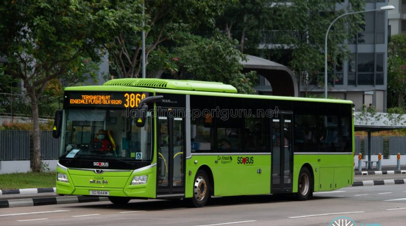 Bus 386A: Go-Ahead MAN Lion's City A22 (SG1844M)