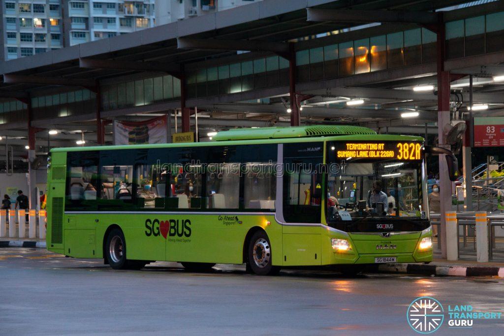 Bus 382A: Go-Ahead MAN Lion's City A22 (SG1844M)