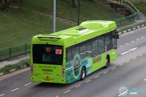 Bus 93: SBS Transit Volvo B5LH (SG3008Y)