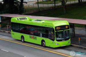 Bus 93: SBS Transit Volvo B5LH (SG3027S)