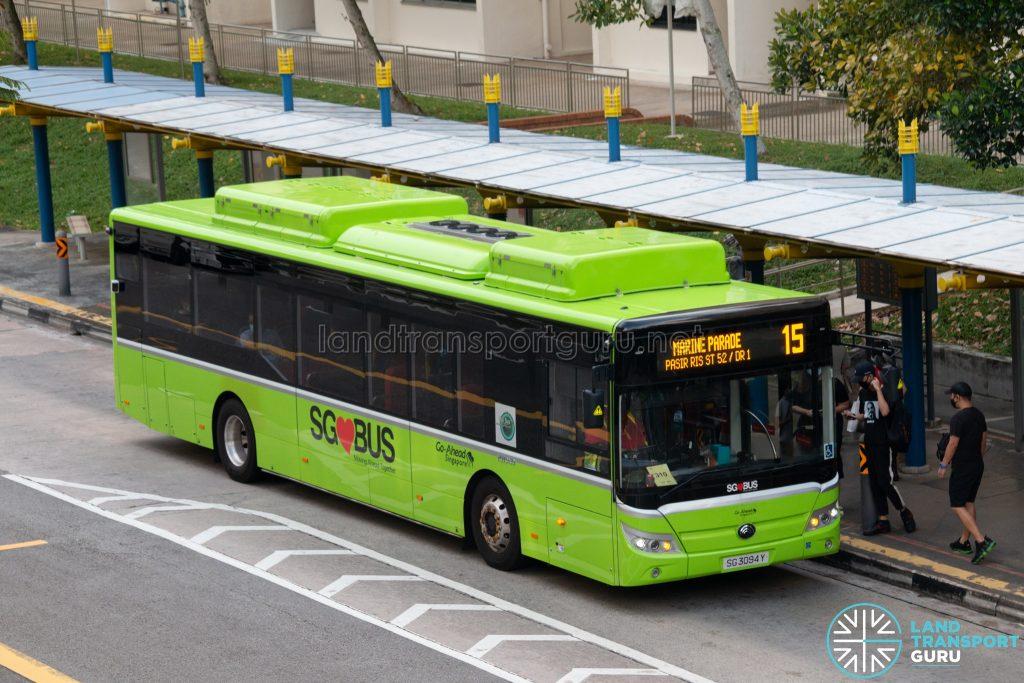 Bus 15: Go-Ahead Yutong E12 (SG3094Y)