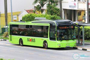 Bus 76: SBS Transit MAN A22 (SMB3101H)