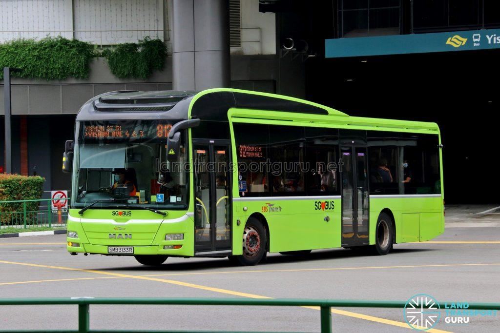 Bus 812: SBS Transit MAN A22 (SMB3133R)
