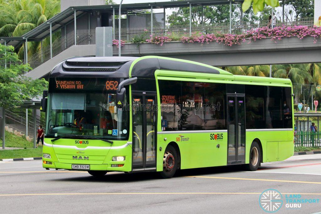 Bus 852: SBS Transit MAN A22 (SMB3169M)