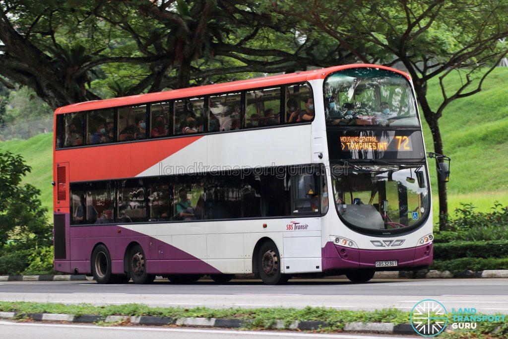 Bus 72: SBS Transit Volvo B9TL Wright (SBS3236T)