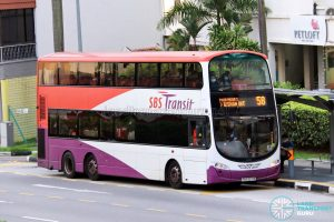 Bus 58: SBS Transit Volvo B9TL Wright (SBS3271R)