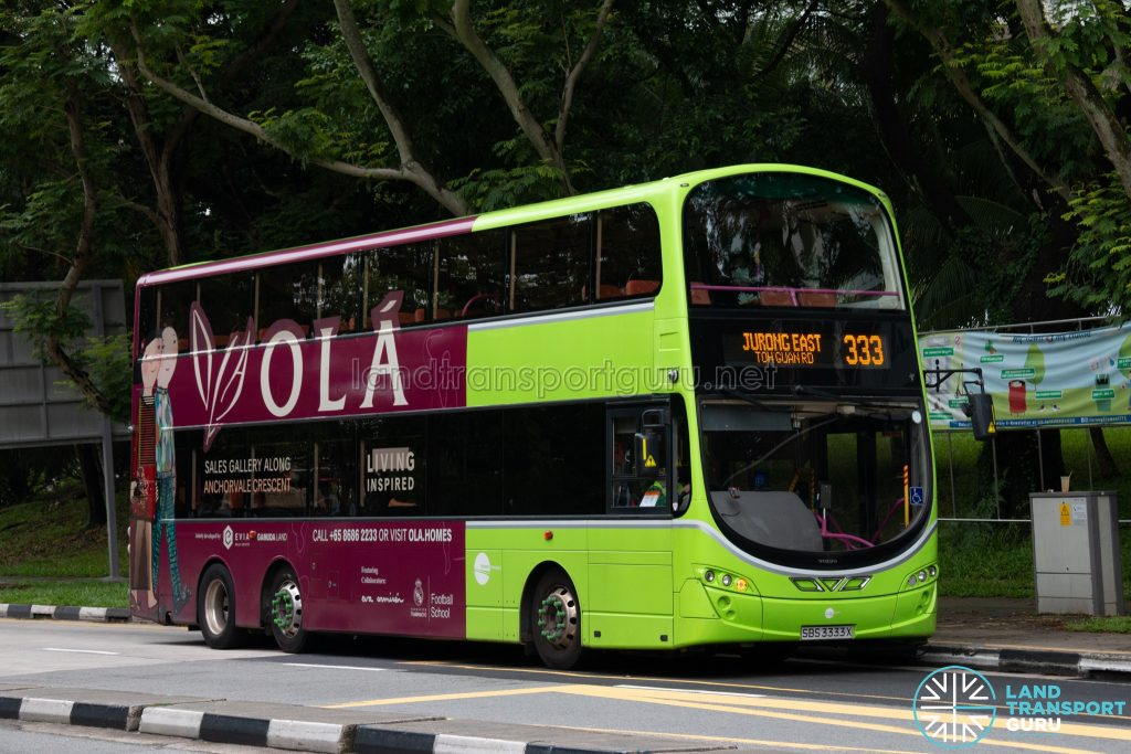 Bus 333: Tower Transit Volvo B9TL Wright (SBS3333X)