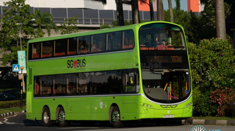 Bus 183B: Tower Transit Volvo B9TL Wright (SBS3374C)