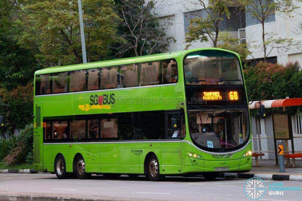 Bus 68: Go-Ahead Volvo B9TL Wright (SBS3490A)