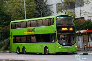 Bus 68: Go-Ahead Volvo B9TL Wright (SBS3490A)