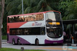 Bus 89A: SBS Transit Volvo B9TL (SBS3602U)