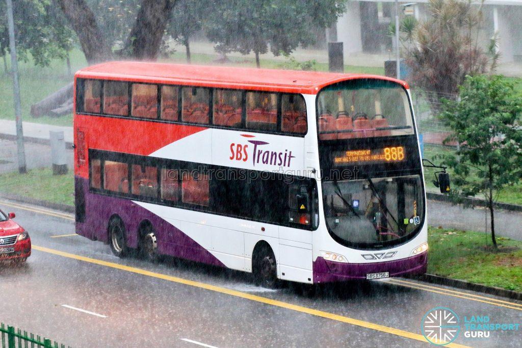 Bus 88B: SBS Transit Volvo B9TL Wright (SBS3756J)