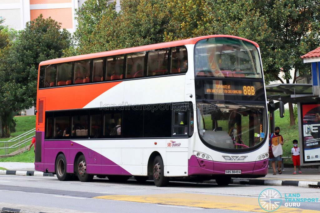 Bus 88B: SBS Transit Volvo B9TL Wright (SBS3849A)