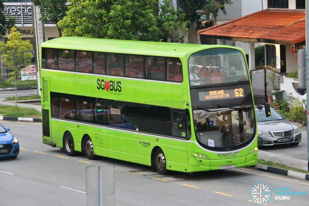 Bus 62: Go-Ahead Volvo B9TL Wright (SG5053C)