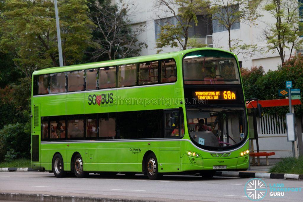 Bus 68A: Go-Ahead Volvo B9TL Wright (SG5060G)