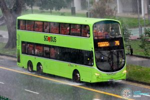 Bus 76: SBS Transit Volvo B9TL Wright (SG5181R)
