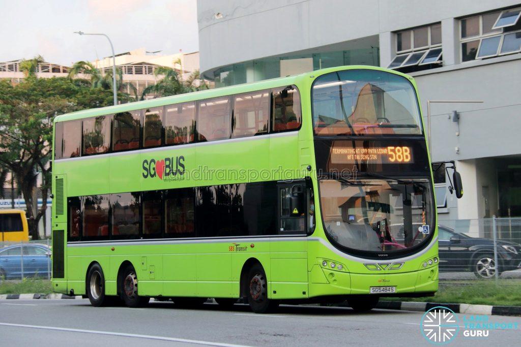 Bus 58B: SBS Transit Volvo B9TL (SG5484S)