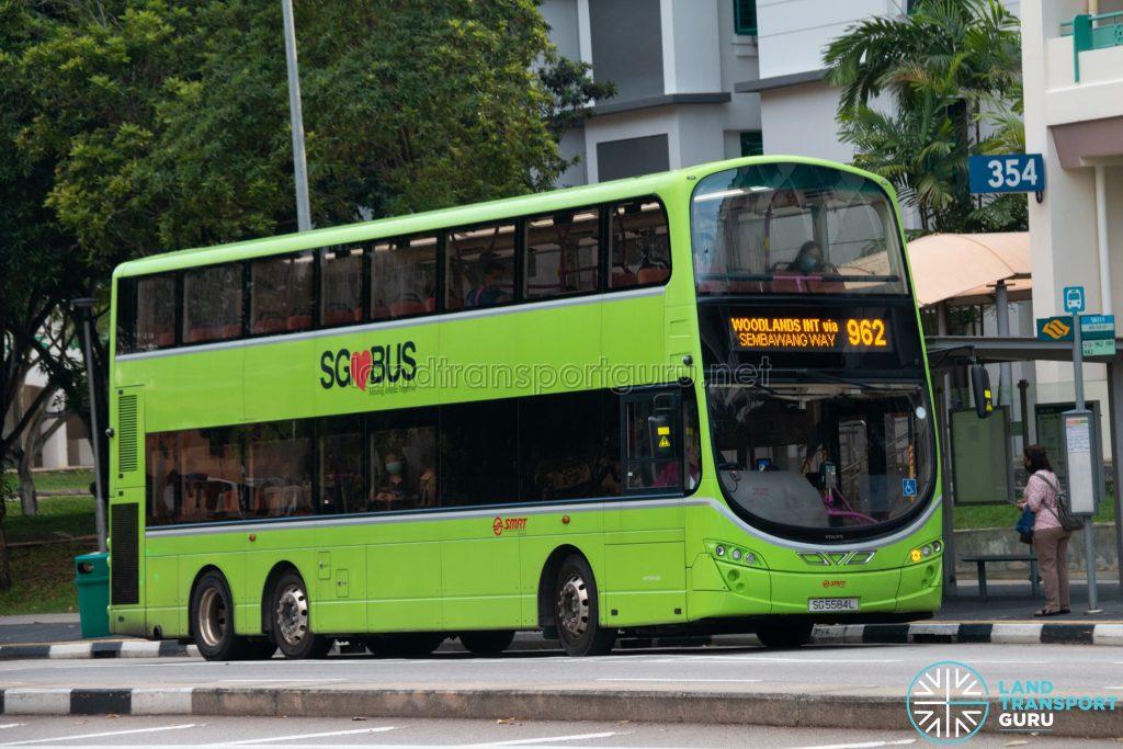 Bus 962: SMRT Buses Volvo B9TL Wright (SG5584L)