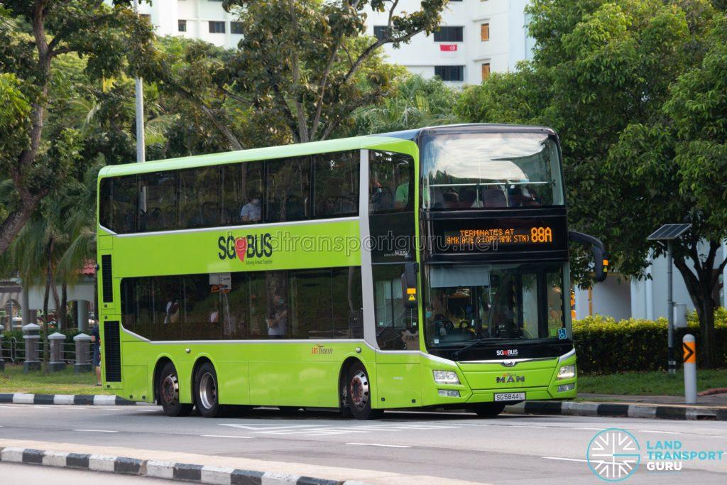 Bus 88A: SBS Transit MAN Lion's City DD A95 (SG5844L)