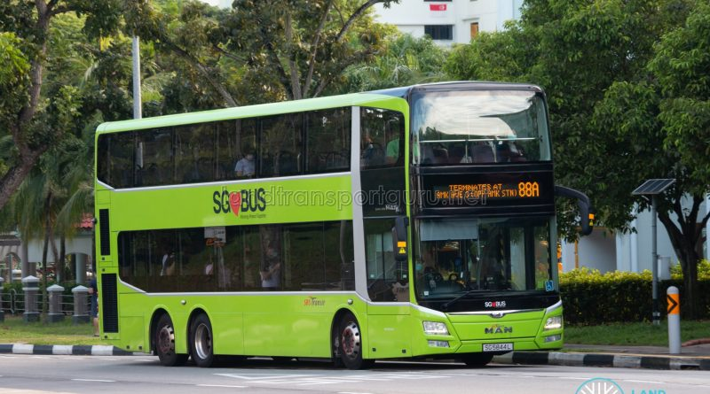 Bus 88A: SBS Transit MAN Lion's City DD A95 (SG5844L)