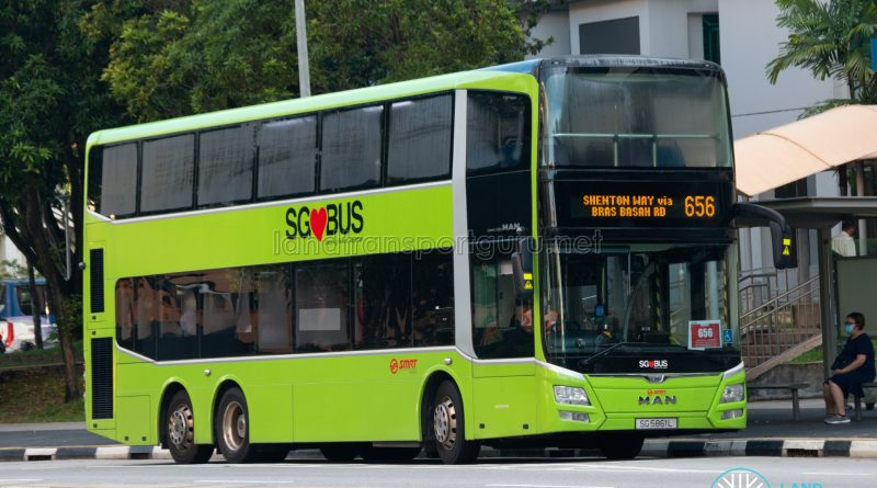 Bus 656: SMRT MAN Lion's City DD A95 (SG5861L)