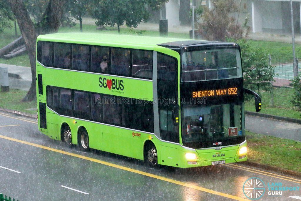 Bus 652: SMRT MAN A95 (SG5862J)
