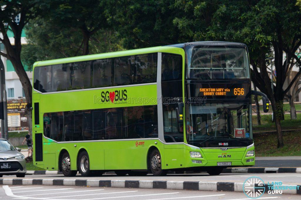 Bus 656: SMRT MAN Lion's City DD A95 (SG5862J)