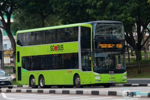 Bus 656: SMRT MAN Lion's City DD A95 (SG5862J)