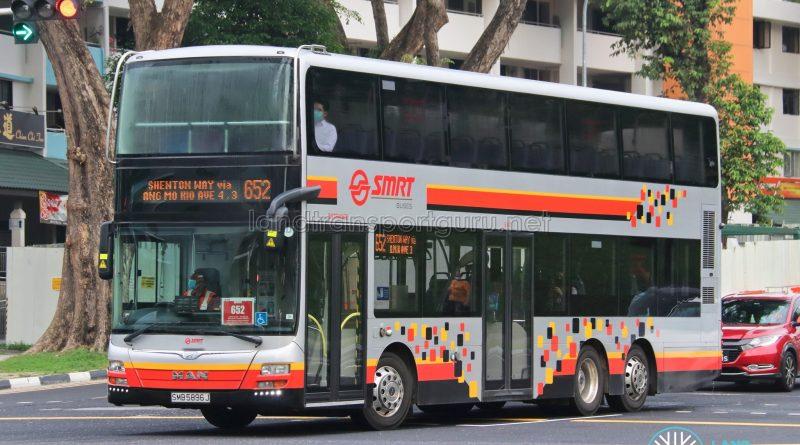 Bus 652: SMRT MAN A95 (SMB5896J)