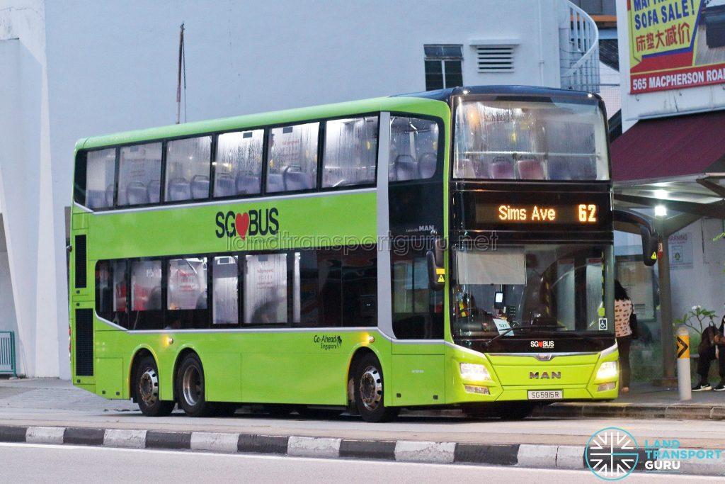Bus 62: Go-Ahead MAN A95 (SG5915R)