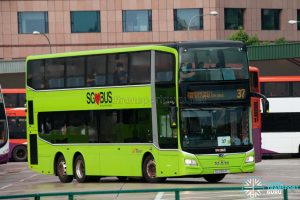 Bus 37: SBS Transit MAN Lion's City DD A95 (SG5954C)