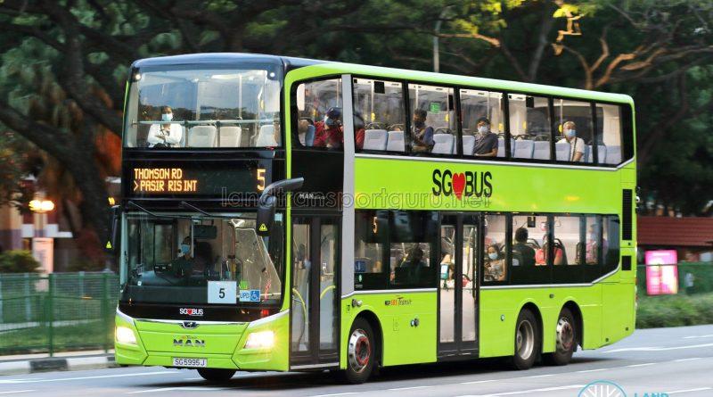 Bus 5: SBS Transit MAN A95 (SG5995J)